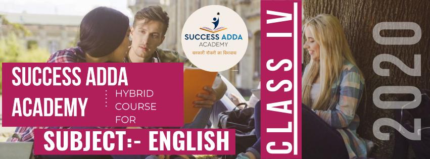 CLASS IV SUBJECT ENGLISH
