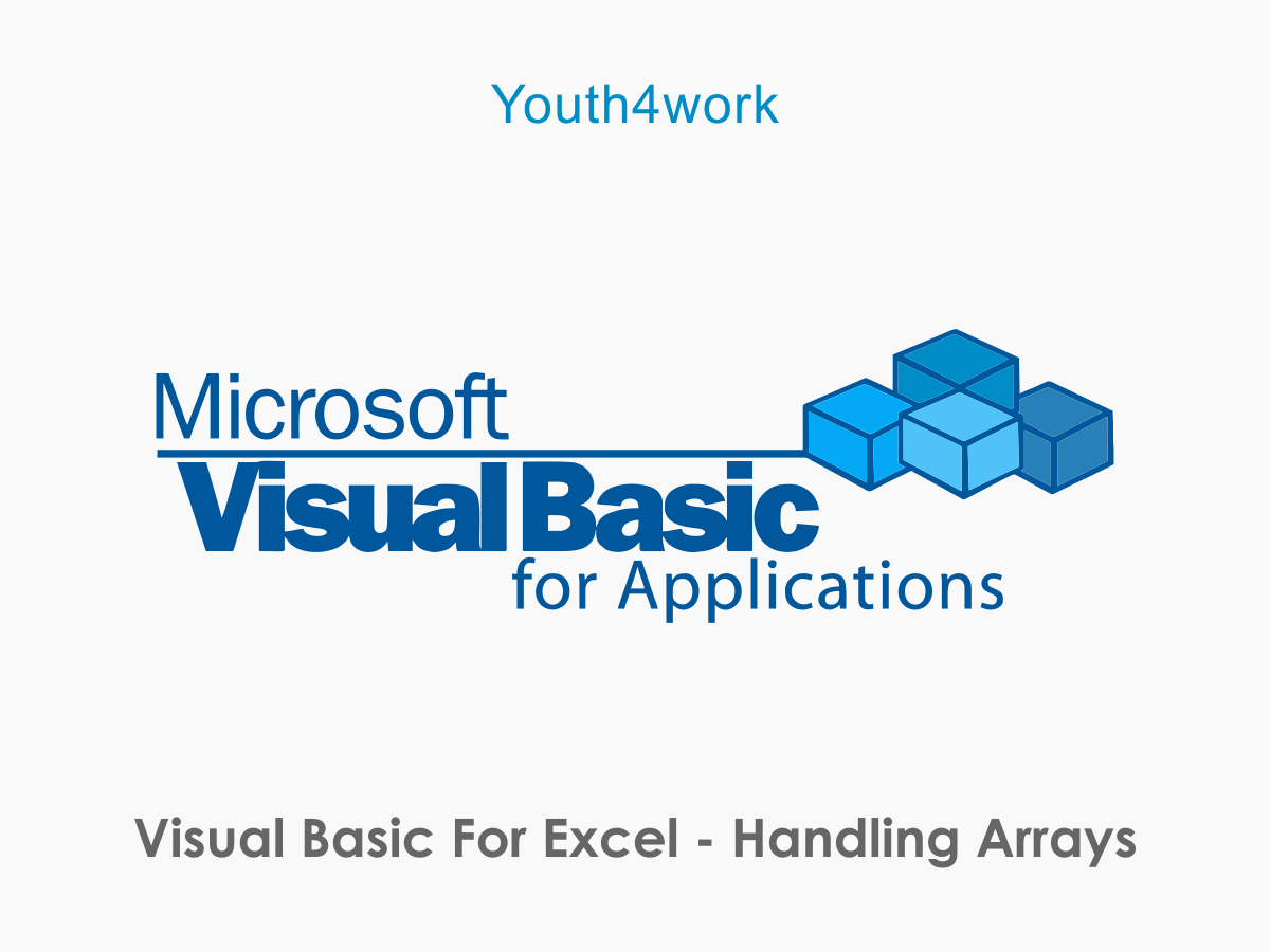 Visual Basic for Excel - Handling Arrays