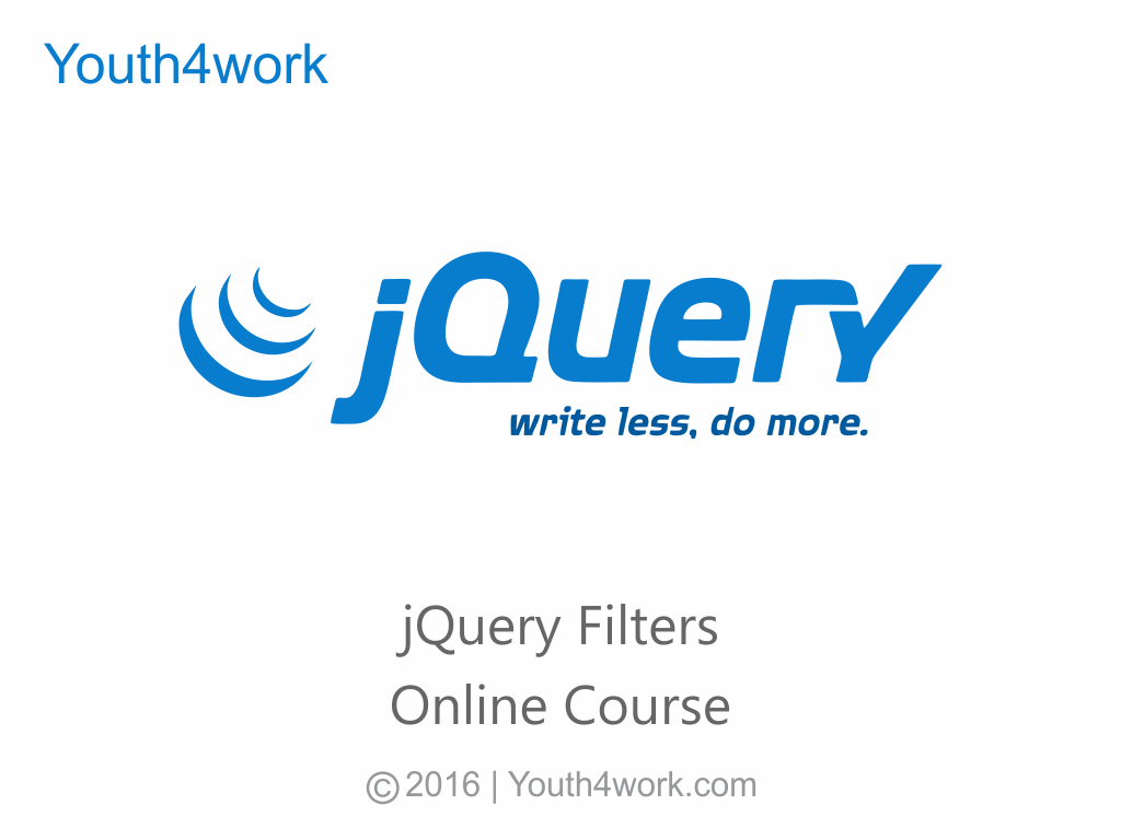 j Query Filters Online Course