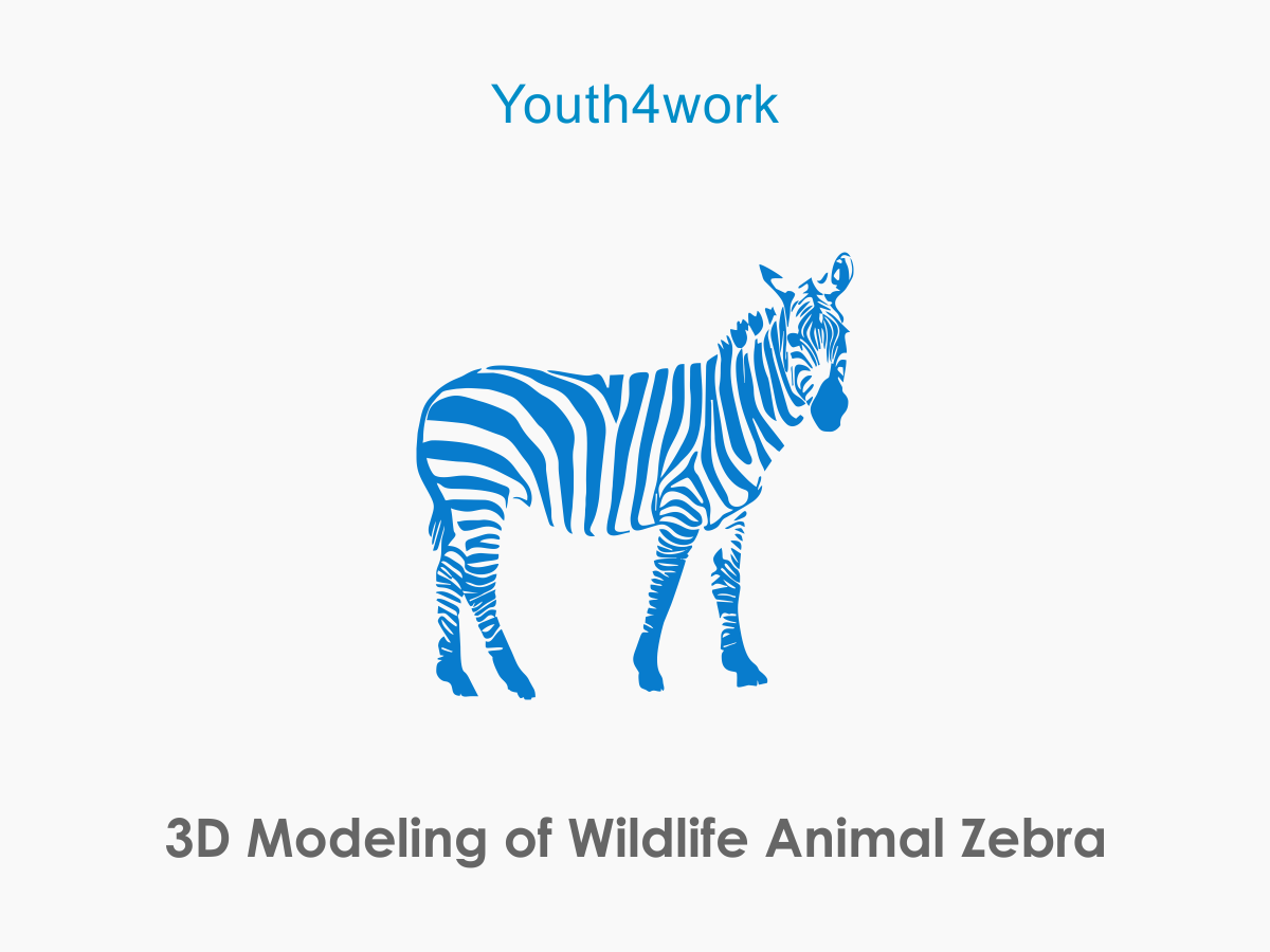 3D Modeling of Wildlife Animal Zebra