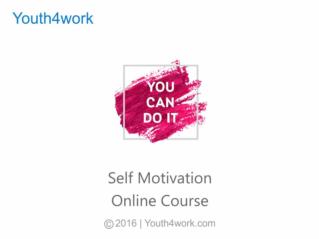 Self Motivation Online Course