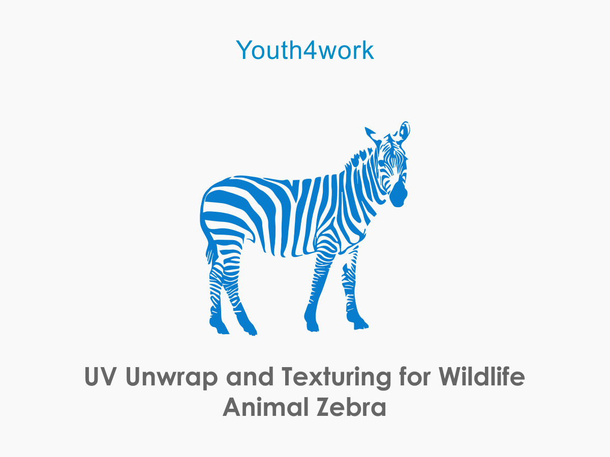 UV Unwrap and Texturing for Wildlife Animal Zebra