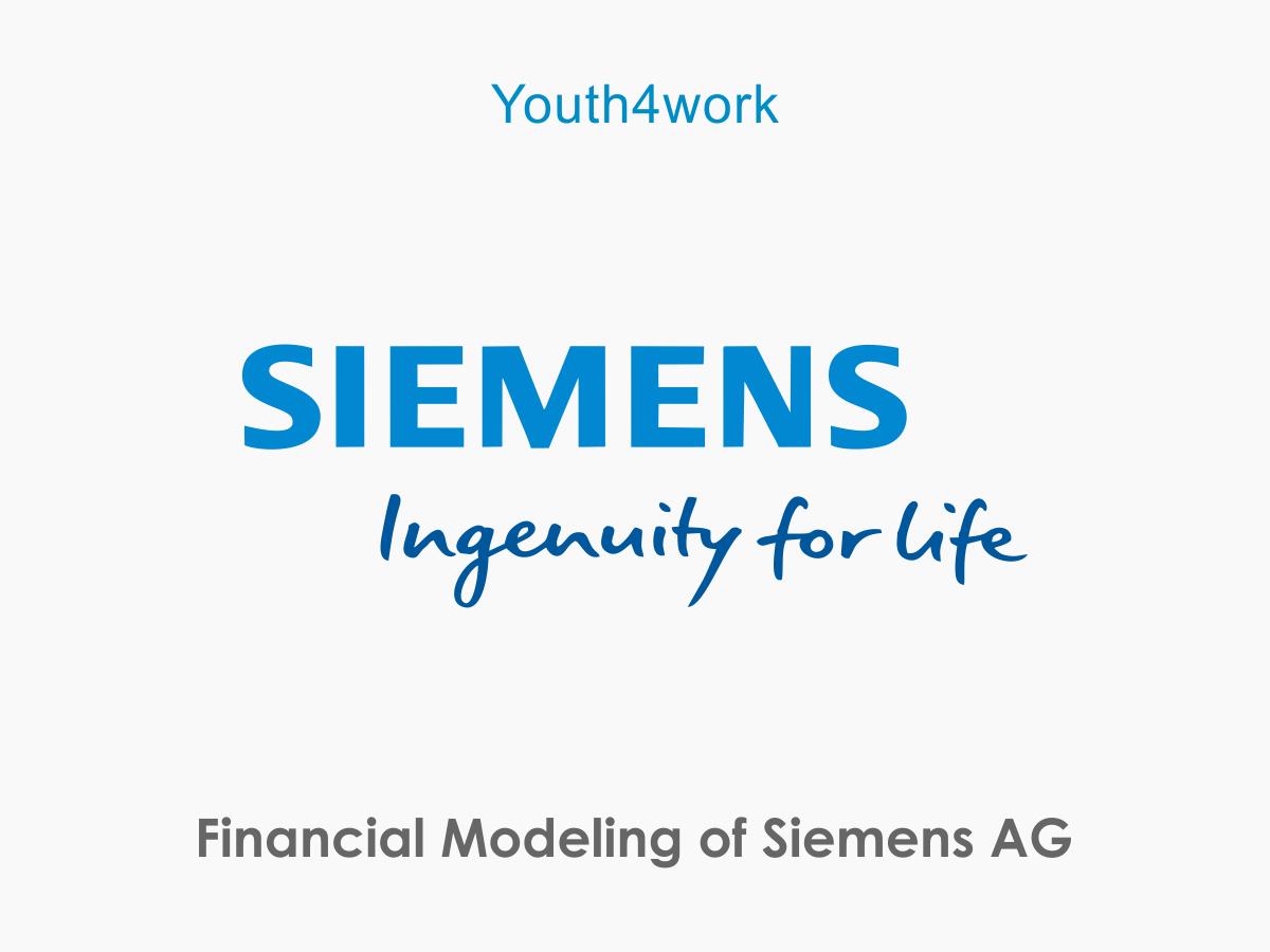 Financial Modeling of Siemens AG