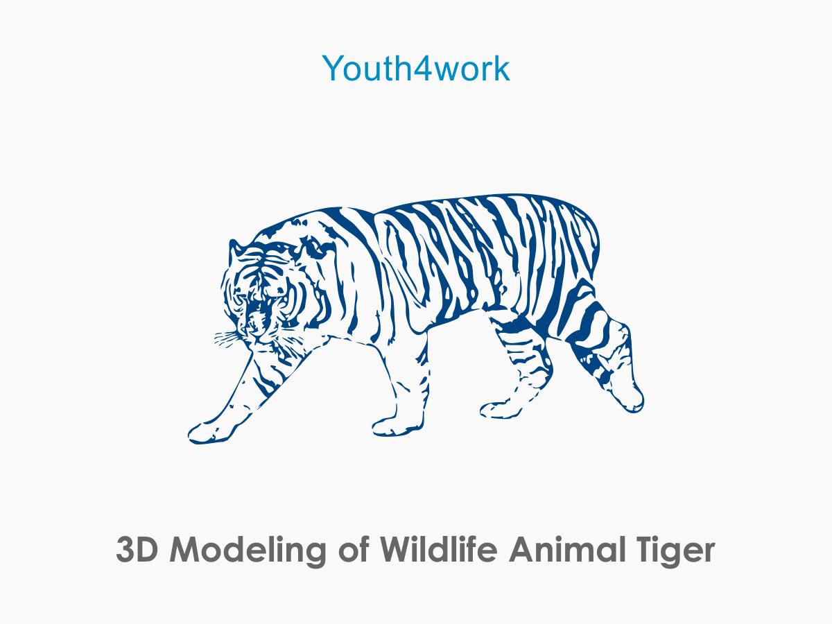 3D Modeling of Wildlife Animal Tiger