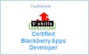 Vskills Certified Blackberry Apps Developer