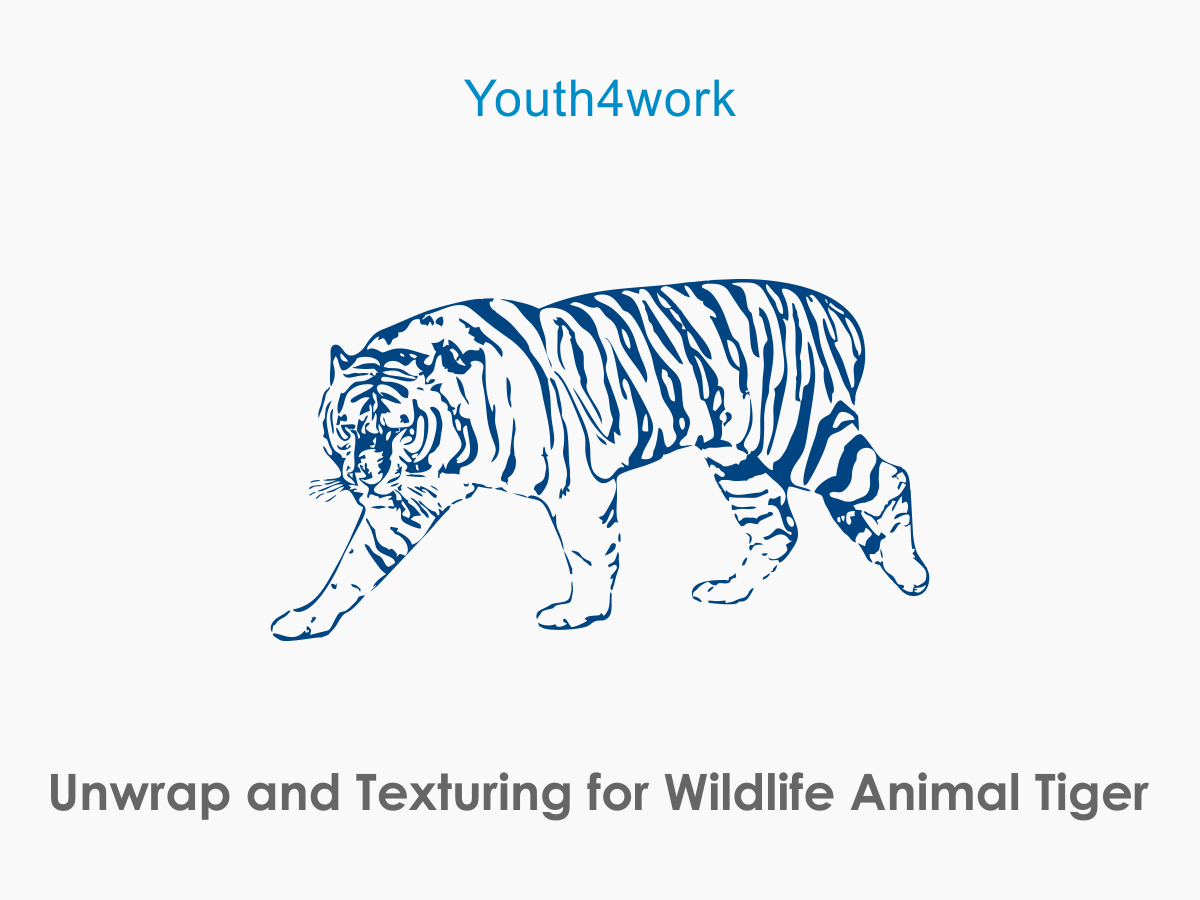 Unwrap and Texturing for Wildlife Animal Tiger