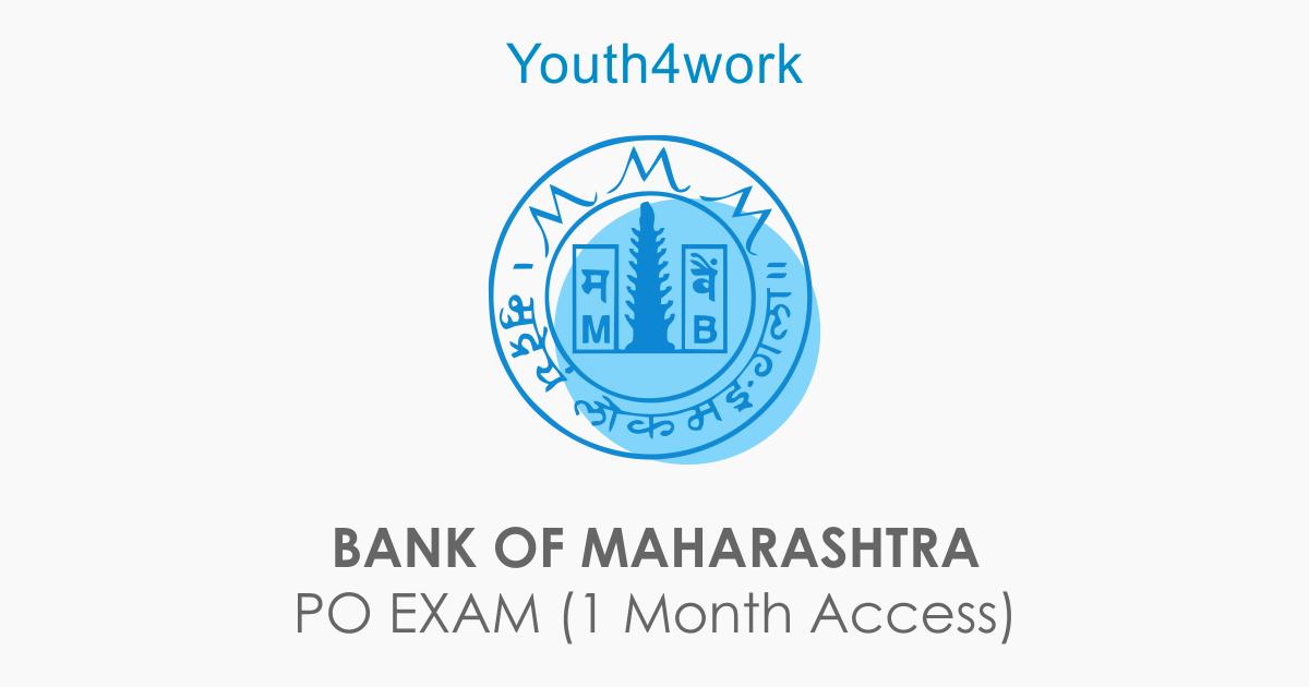 BANK OF MAHARASHTRA PO EXAM