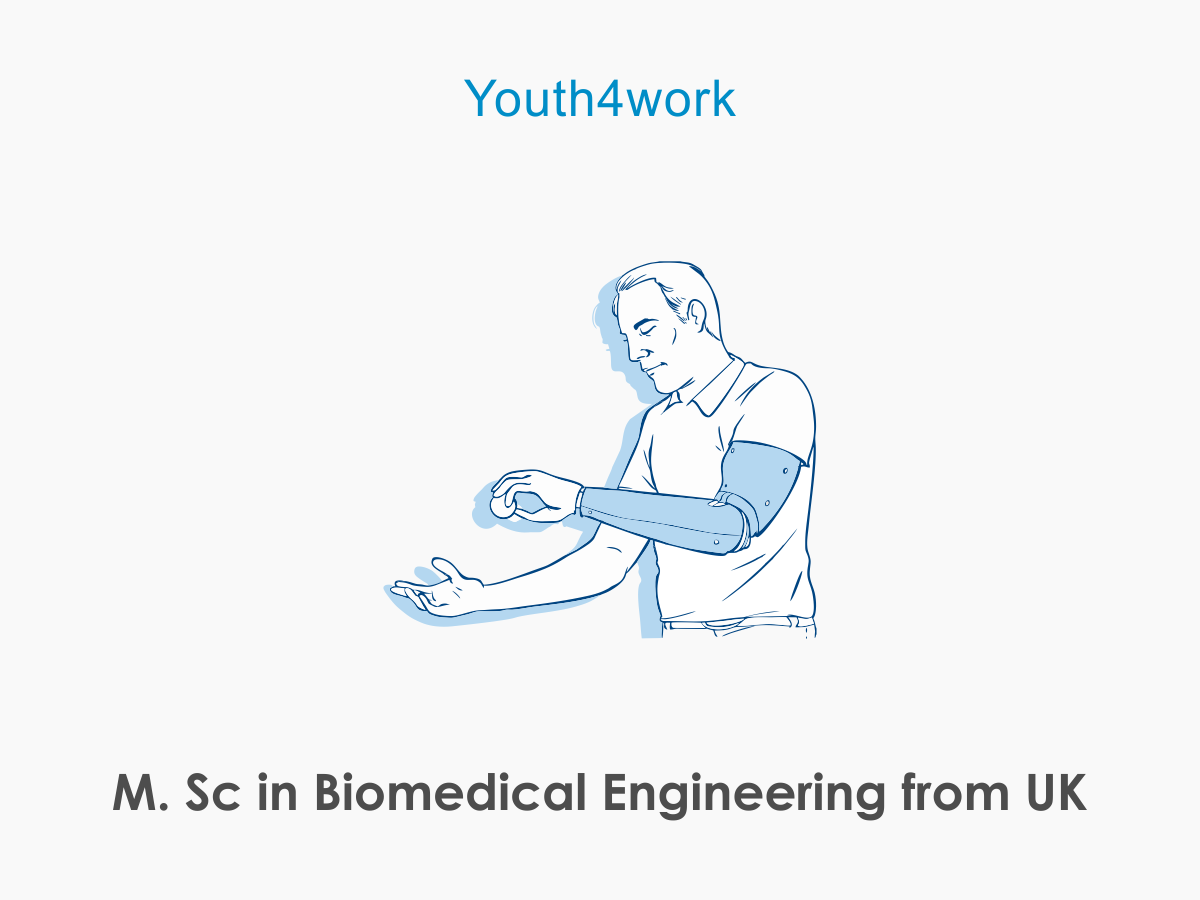 M.Sc in  Biomedical Engineering from UK