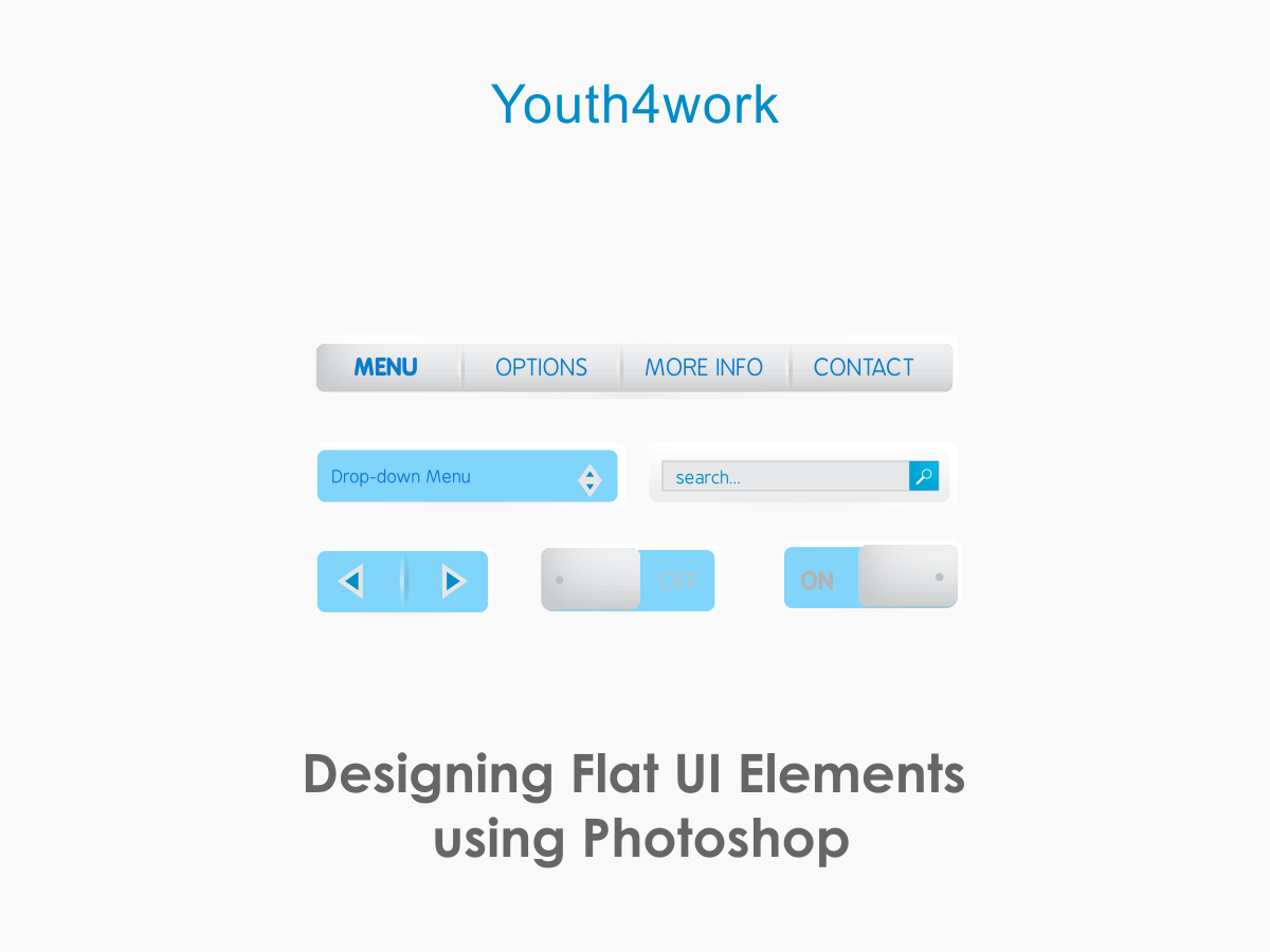 Designing Flat UI Elements using Photoshop