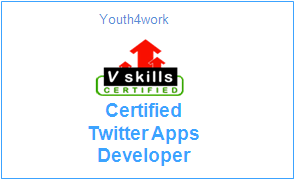 Vskills Certified Twitter Apps Developer