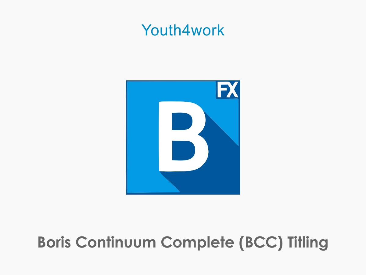 Boris Continuum Complete Titling