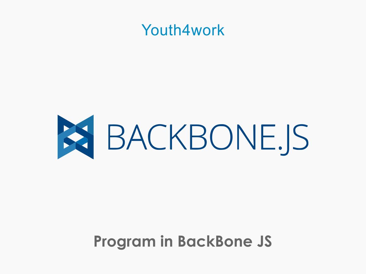 BackBone JS programming