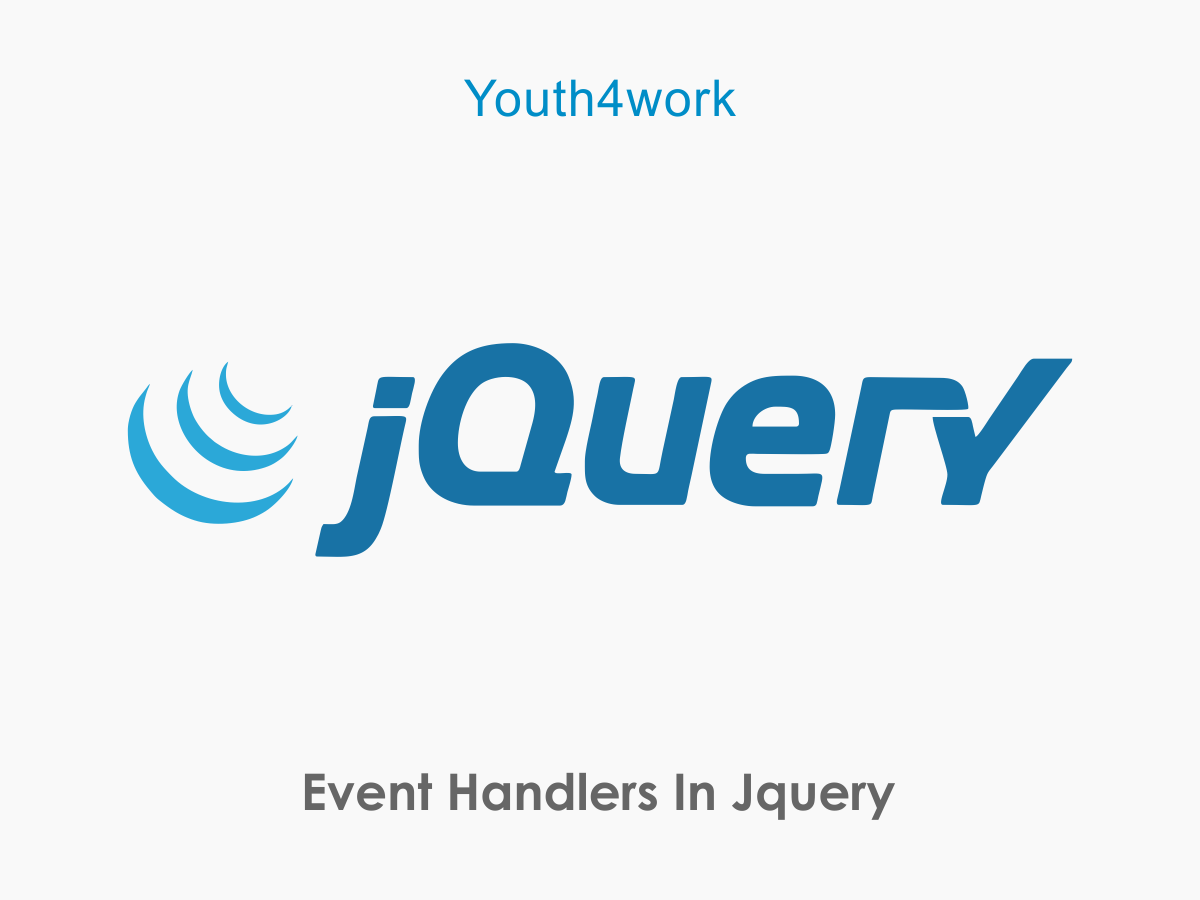 Event Handlers in jQuery