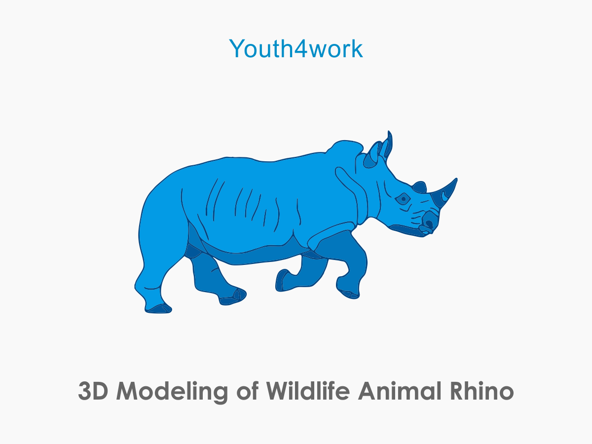 3D Modeling of Wildlife Animal Rhino