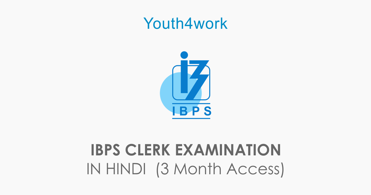 IBPS CLERK EXAMINATION IN HINDI