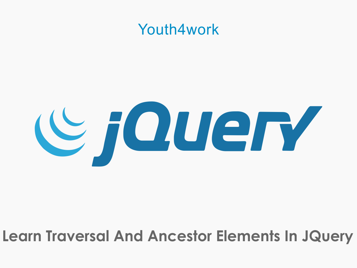 JQuery -Traversal And Ancestor Elements