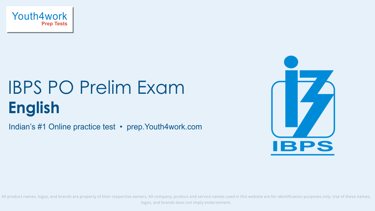 ibps po prelims free english mock tests, ibps prelims online english test series, ibps po prelims english practice set, ibps po prelims english preparation test, online entrance exam english test for ibps po prelims, ibps po prelims english mcqs question, institute of banking personnel selection pro