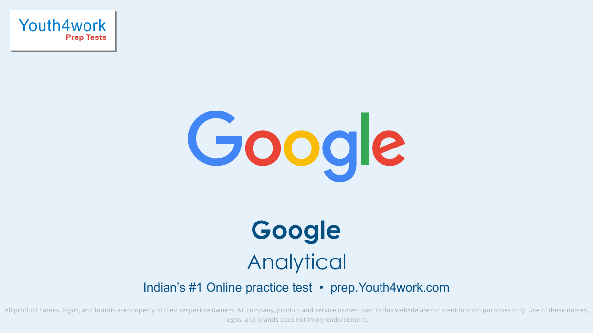 Google Analytical Mock Series and Placement Papers