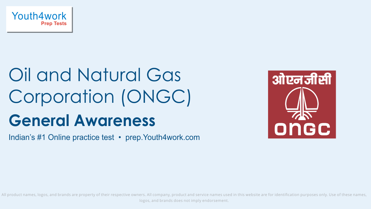 ONGC Recruitment Test, Previous year questions, placement papers, ONGC, ONGC Recruitment, ONGC Careers, ONGC Company, ONGC Management, ONGC Question paper, ONGC Mock test, ONGC preparation test, ONGC Exam pattern, ONGC sampler paper, ONGC Placement paper