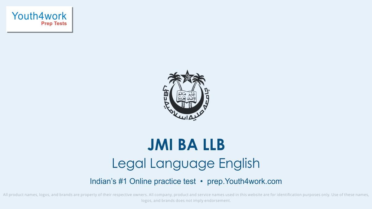 JMI BA LLB, JMI BA LLB exam, JMI exam pattern, JMI mock test, JMI preparation, JMI free mock test,  JMI online test, JMI free test, JMI previous year paper, legal language English test