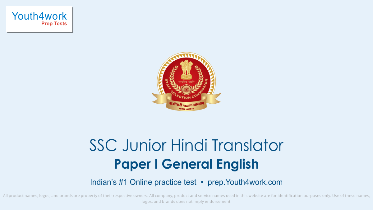 SSC JHT Paper I General English, ssc hindi translator english, ssc jht english syllabus, ssc jht english mock test, ssc jht english free test series, ssc jht online test series, ssc jht english practice sets, english for ssc jht