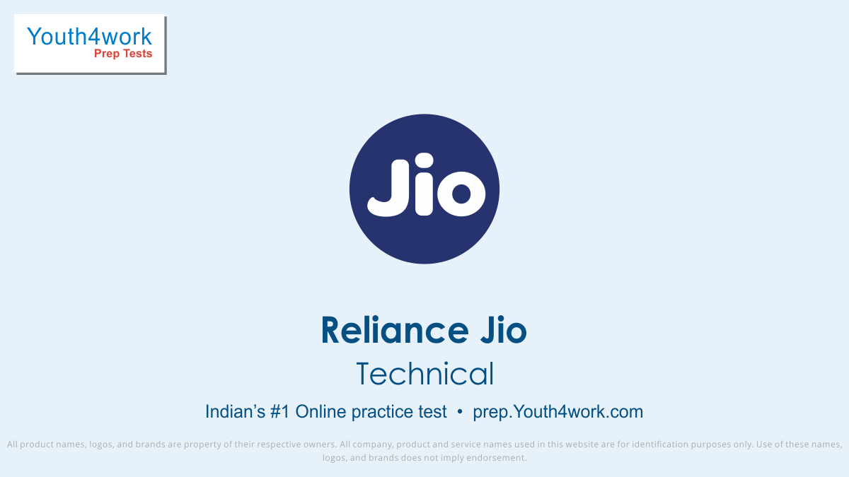 Reliance Jio, Reliance jio Placement, Question Papers, Exam Pattern, Reliance jio Interview Questions, Explanation, Reliance Jio Mock Test Series,  Reliance Jio Free Online Test, Reliance Jio Practice Test, Sample Papers, Model Test Papers, Reliance jio recruitment, Technical placement test