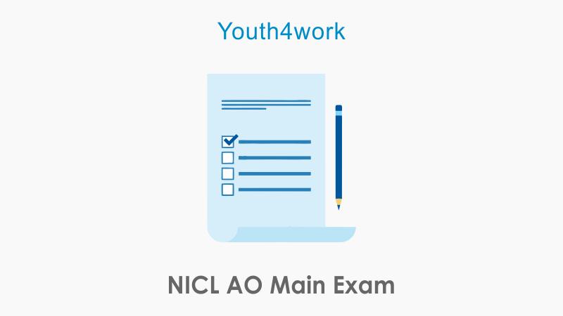 NICL AO Main Exam