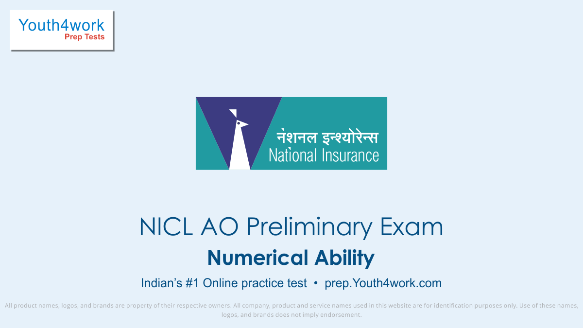 NICL AO Main Exam, NICL AO mock test,  NICL AO practice test, NICL AO previous year papers, NICL AO recruitment, NICL AO model test papers, Numerical Ability test series