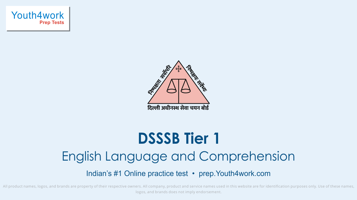 DSSSB, dsssb online test, sample paper, dsssb recruitment, dsssb recruitment exam, dsssb tier 1, exam prep, online test, mock test, question paper, practice test