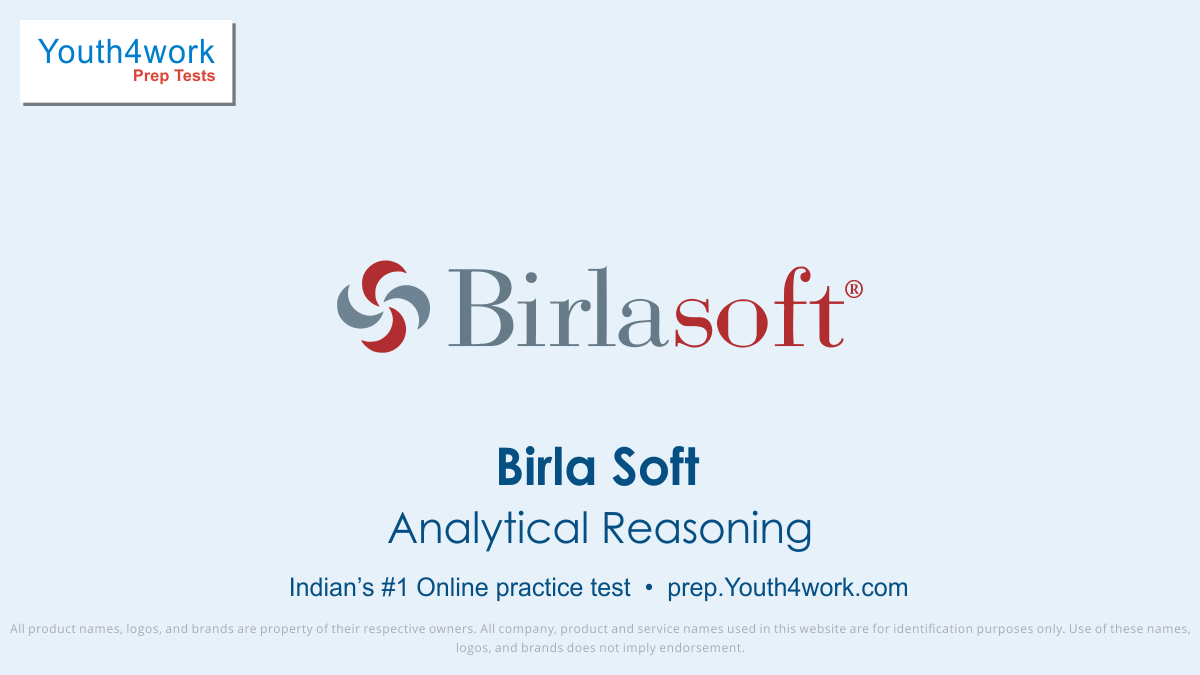 BirlaSoft, placement papers, mock test, practice papers, latest placement papers, important questions, prepare online, free BirlaSoft practice paper