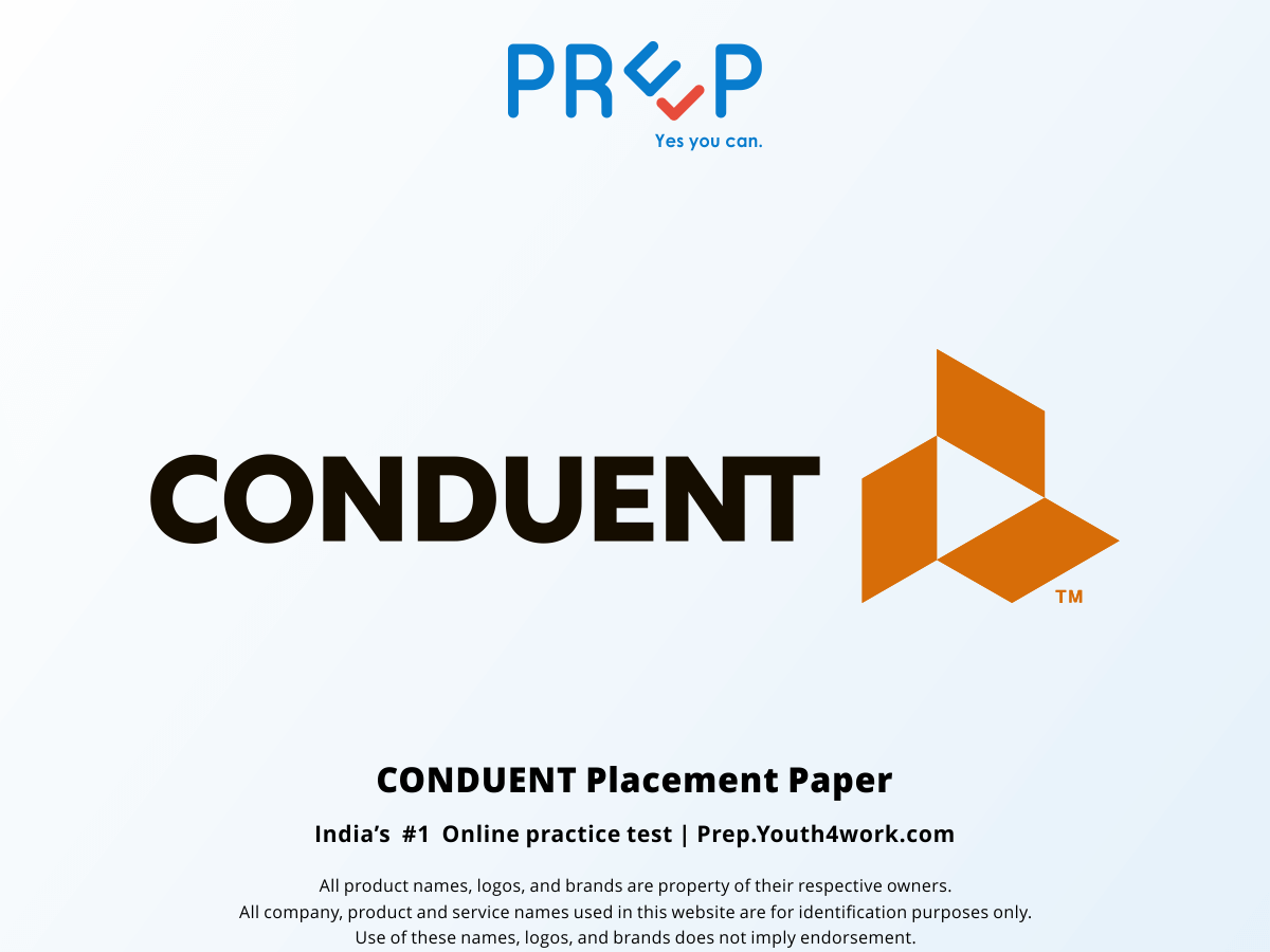 Conduent Placement Papers Prepare with Online Mock Tests