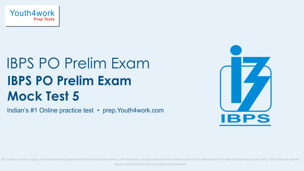 ibps po prelims free mock tests, ibps po prelims online test series, ibps po prelims practice set, ibps po prelims preparation test, online entrance exam test for ibps po prelims, ibps po prelims mcqs question, institute of banking personnel selection probationary officer prelims test