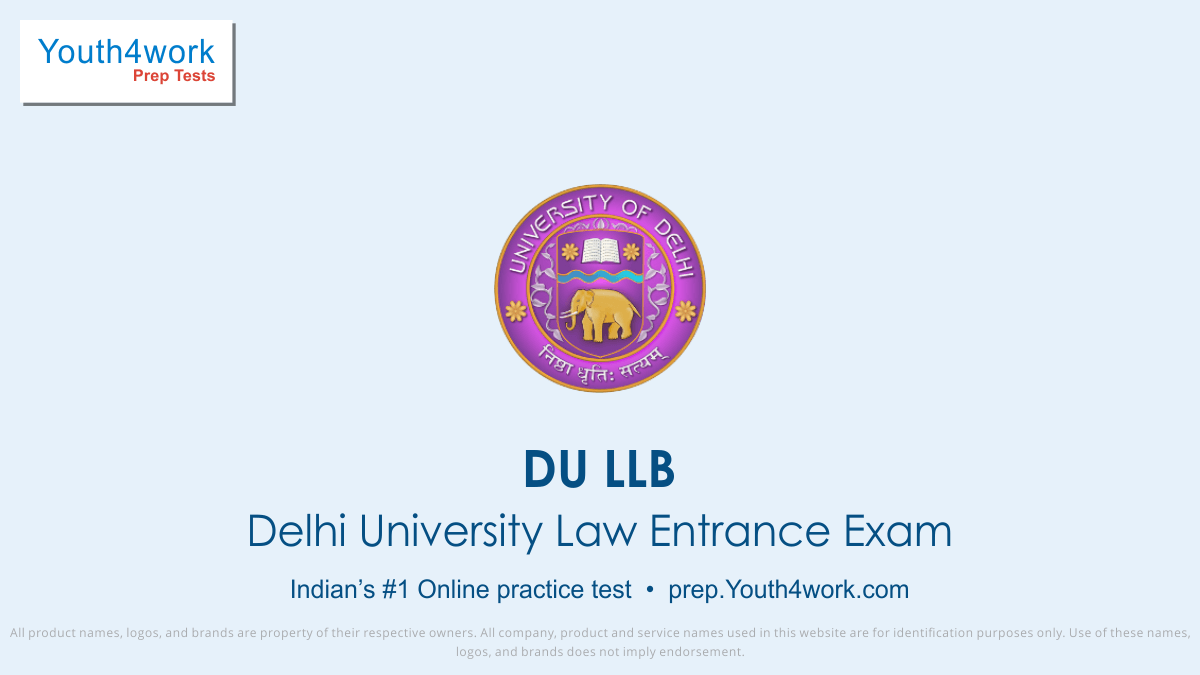 DU LLB Online Law Preparation, Law Entrance exam, Online Law Test, Law mock test, Law aptitude test, du llb important questions, du law answers with solutions, law imp mcqs, previous year entrance papers for Delhi University, exam pattern and syllabus of DU LLB, Best mock test, free online mock test