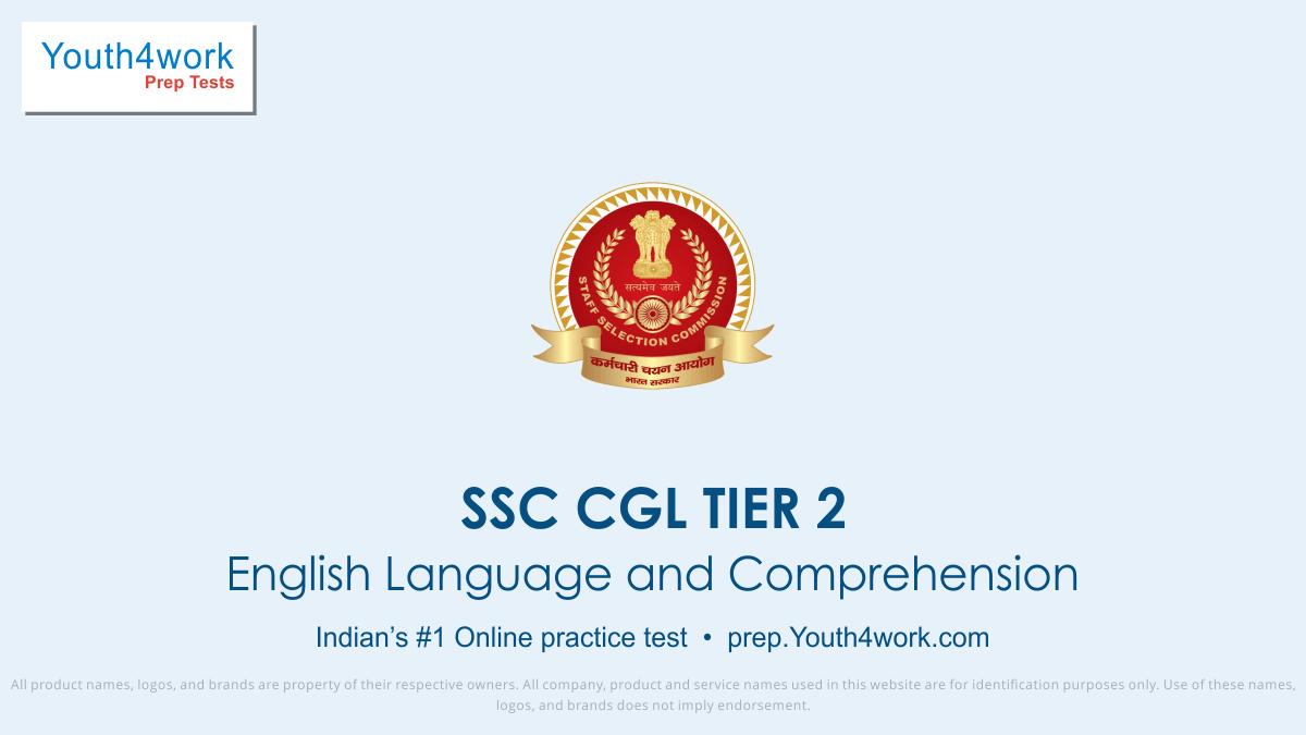 SSC CGL TIER 2 English Language Online Mock Test