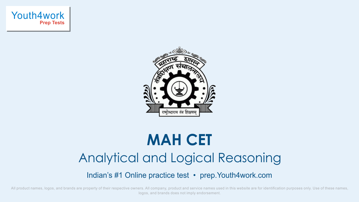 Analytical and Logical Reasoning, MAH CET, MAH MBA CET, MAH CET mock test, MAH CET exam,Free MAH CET mock test online, MAH LLB CET, MAH CET online revision, Previous year questions, sample paper
