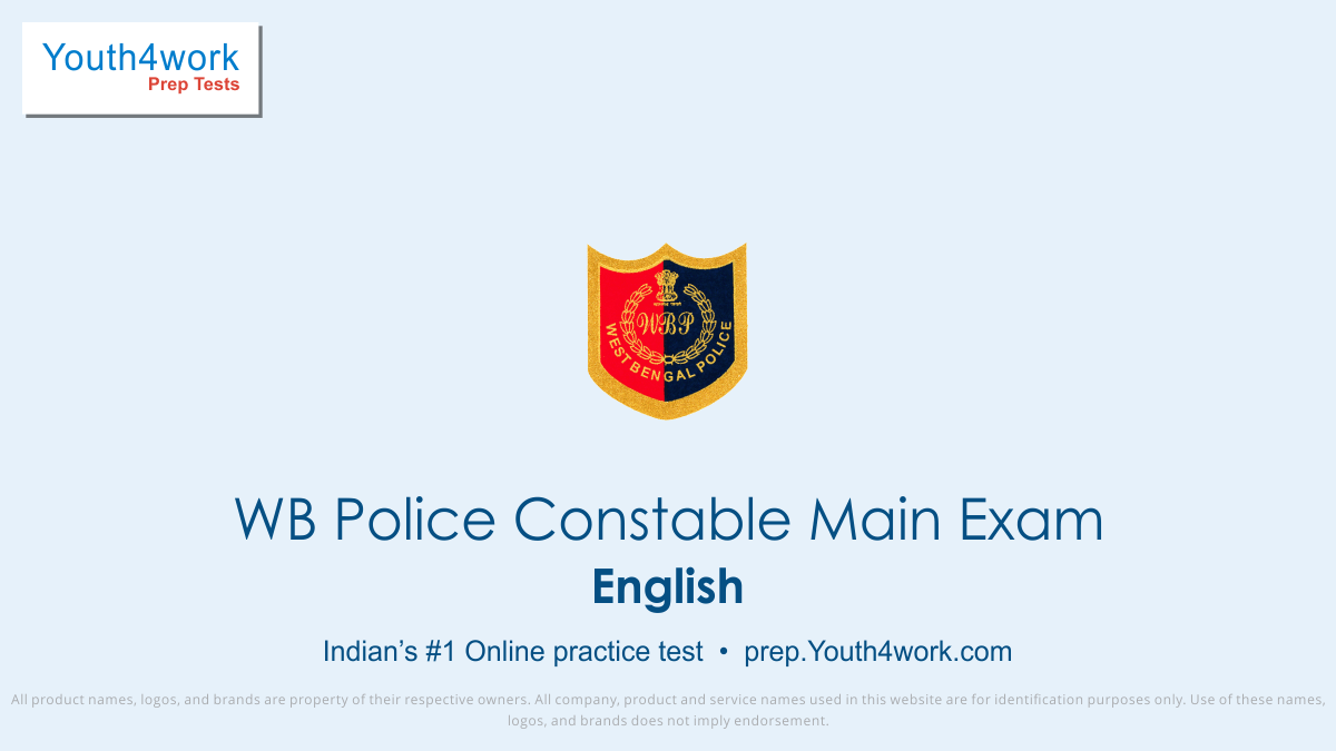 WB Police Constable Main Exam, WB Police Constable Exam, wb police constable recruitment, west bengal police constable recruitment, online practice test, west bengal police