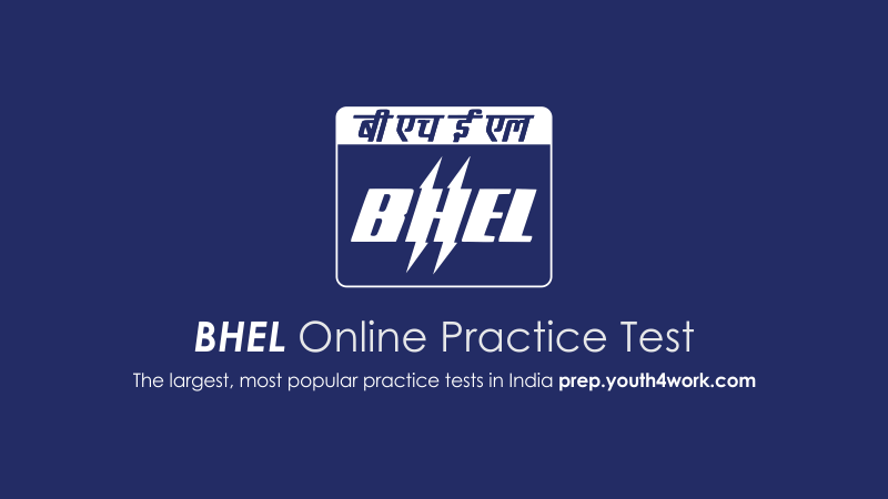 bhel engineering mock test, bhel technical mcqs, crack bhel exam with youth4work mock series, bhel online practice paper, bhel free mock test, bhel engineering aptitude questions