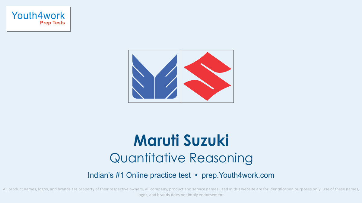 Maruti Suzuki Quantitative Reasoning Mock Series and Sample