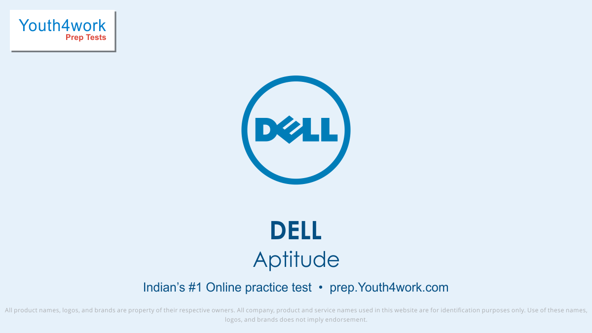 DELL Aptitude Online Mock Test Series