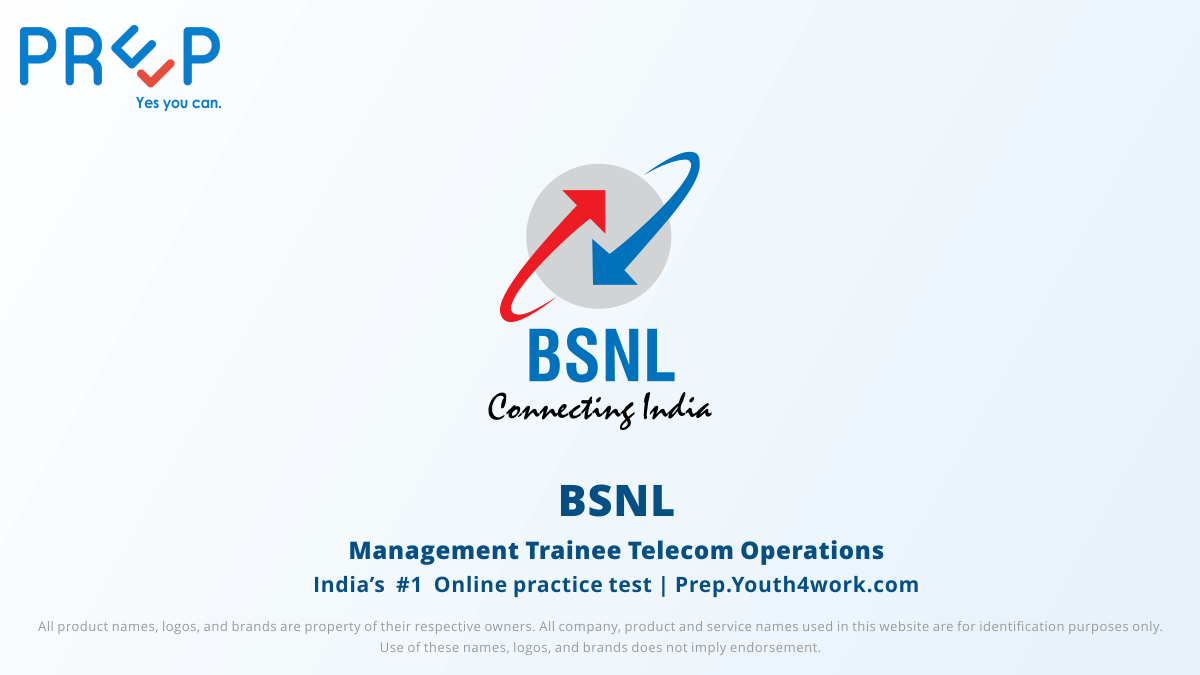 BSNL Management Trainee Telecom Operations
