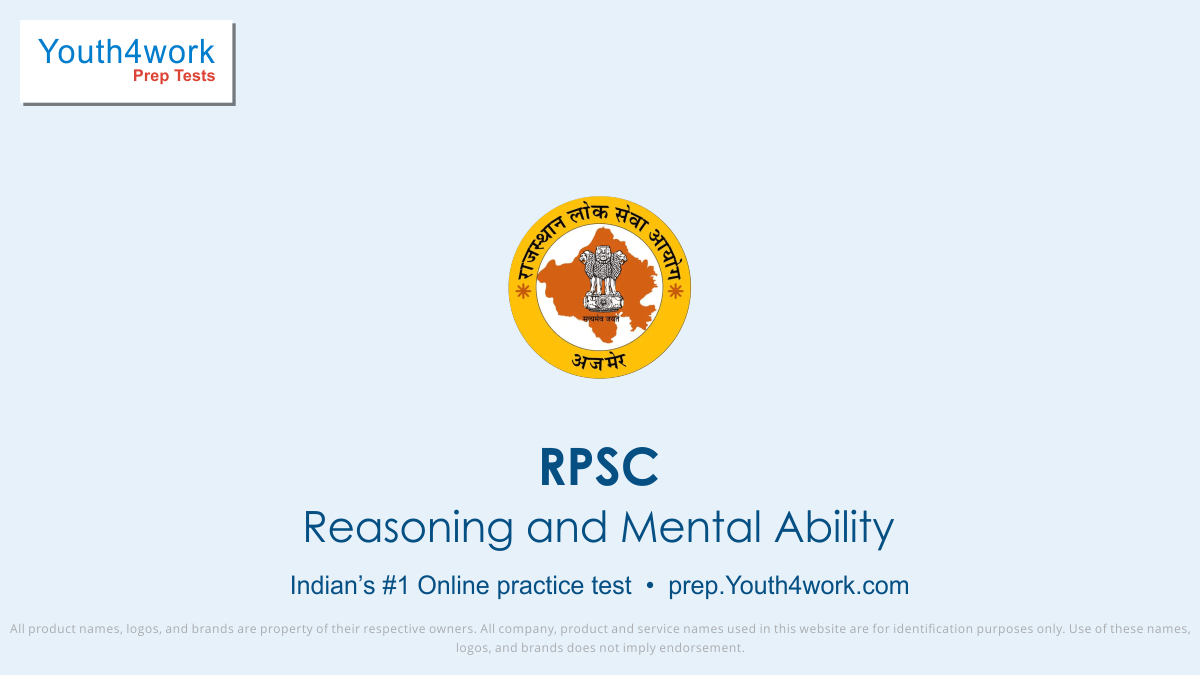 rajasthan public service commission, RPSC, RPSC EXAM, RPSC exam paper, RPSC Previous year paper, RPSC Paper pattern, RPSC Question paper, RPSC Recruitment, RPSC Vacancy, RPSC Online free test, RPSC Mock test, RPSC exam format, Numerical Ability test series, reasoning and mental ability test