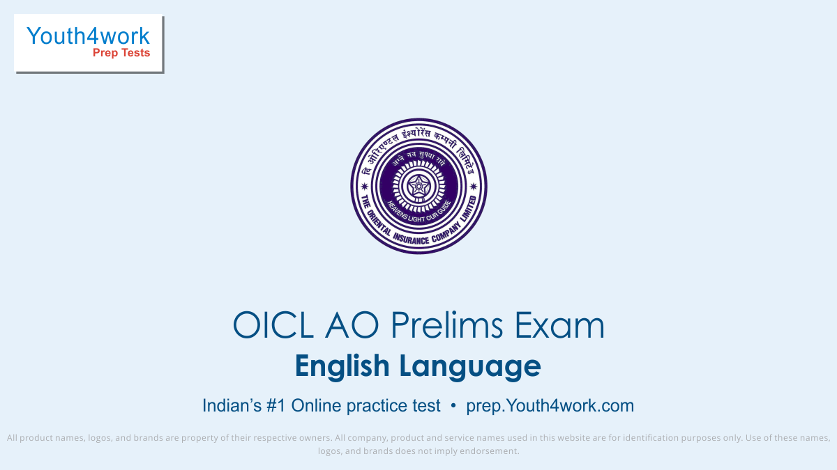 oicl ao English mock test series, oicl ao prep online mock test series, verbal ability skills for oicl administrative officer test, oicl exam English practice papers, oicl recruitment exam online prep for eng, English language mcqs for oicl ao, oicl ao English questions with answers, oicl ao English