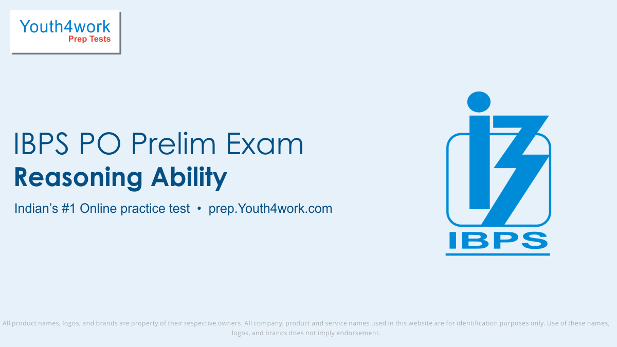 ibps po prelims free reasoning mock tests, ibps po prelims online reasoning test series, ibps po prelims reasoning practice set, ibps po prelims reasoning preparation test, online entrance exam reasoning test for ibps po prelims, ibps po prelims reasoning mcqs question, institute of banking personne