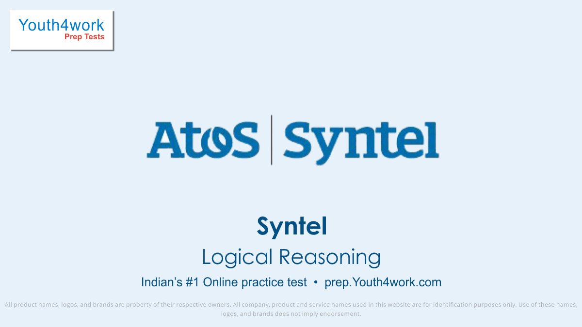 syntel free logical reasoning mock test, syntel online reasoning test series, syntel reasoning practice set, syntel reasoning preparation test, online entrance exam reasoning test for syntel, syntel reasoning mcqs question, atos syntel updated reasoning tests