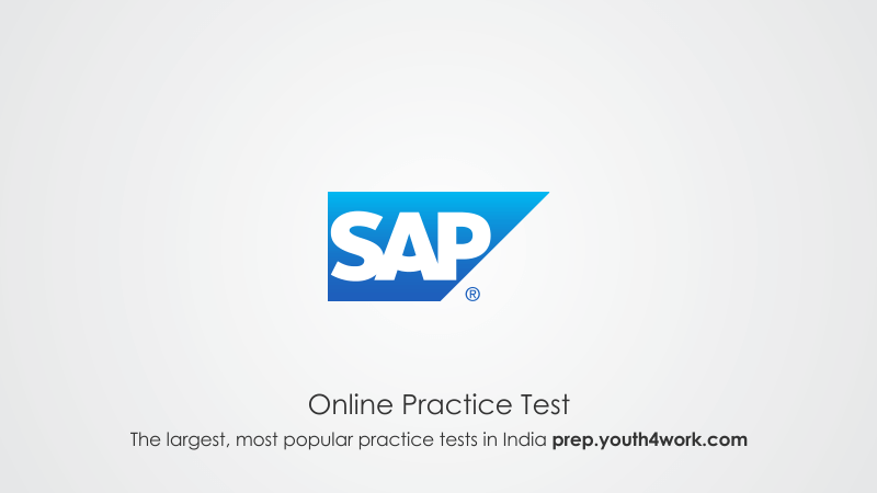 SAP LABS Aptitude Online Mock Test Series