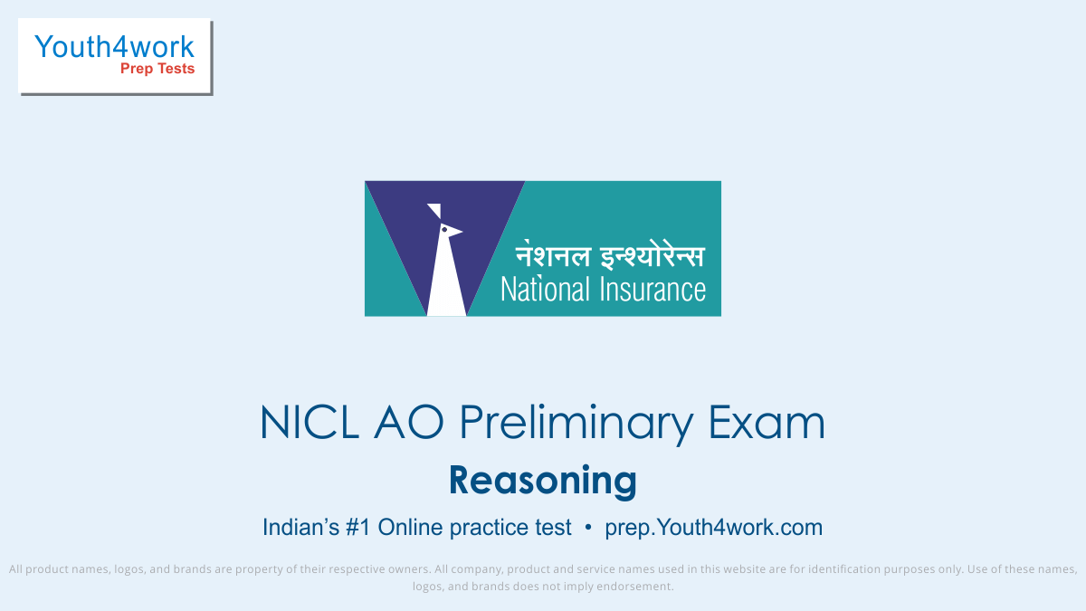 NICL AO Main Exam, NICL AO mock test,  NICL AO practice test, NICL AO previous year papers, NICL AO recruitment, NICL AO model test papers, Reasoning test series,