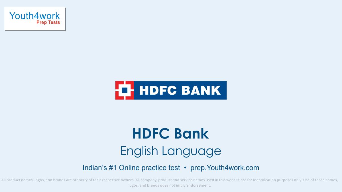 HDFC, HDFC Bank jobs, HDFC bank preparation, HDFC bank vacancy, HDFC bank recruitment, HDFC bank online test, HDFC bank free test, HDFC bank Question paper, HDFC bank model test paper, HDFC bank free preparation, prepare for bank jobs