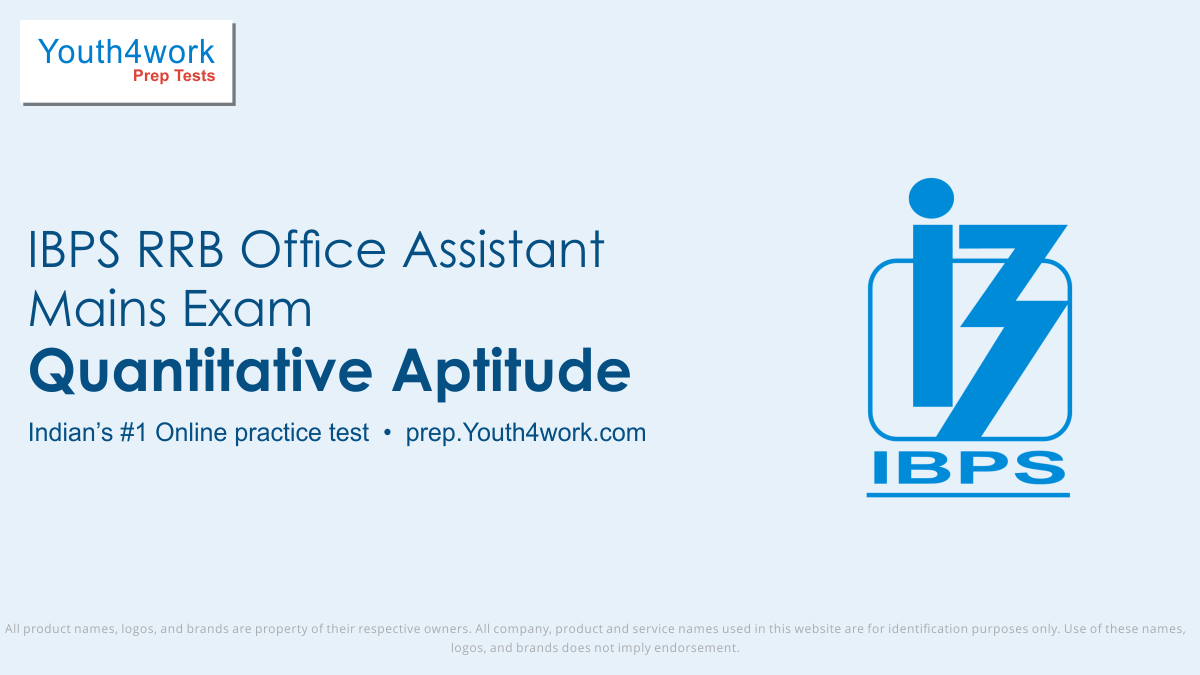 ibps rrb office assistant mains free aptitude mock test, ibps rrb office assistant mains online aptitude test series, ibps rrb office assistant mains aptitude practice set, ibps rrb office assistant mains aptitude preparation test, online entrance exam aptitude test for ibps rrb office assistant mai