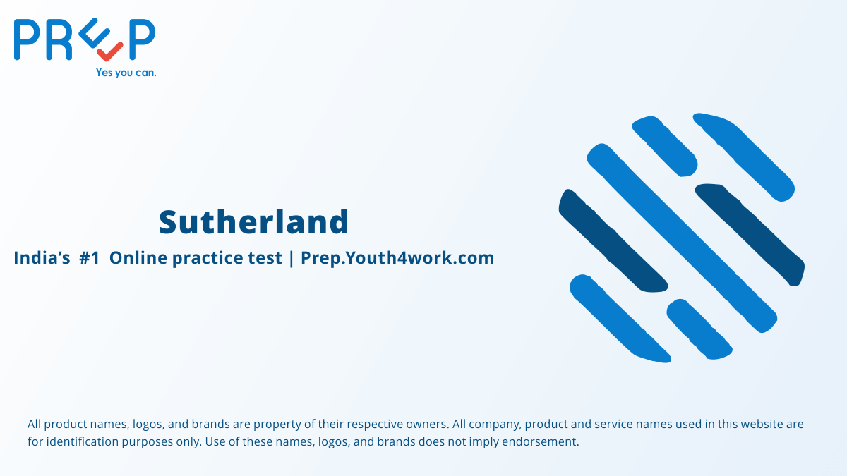 Technical MCQs Practice Mock Questions for Sutherland recruitment