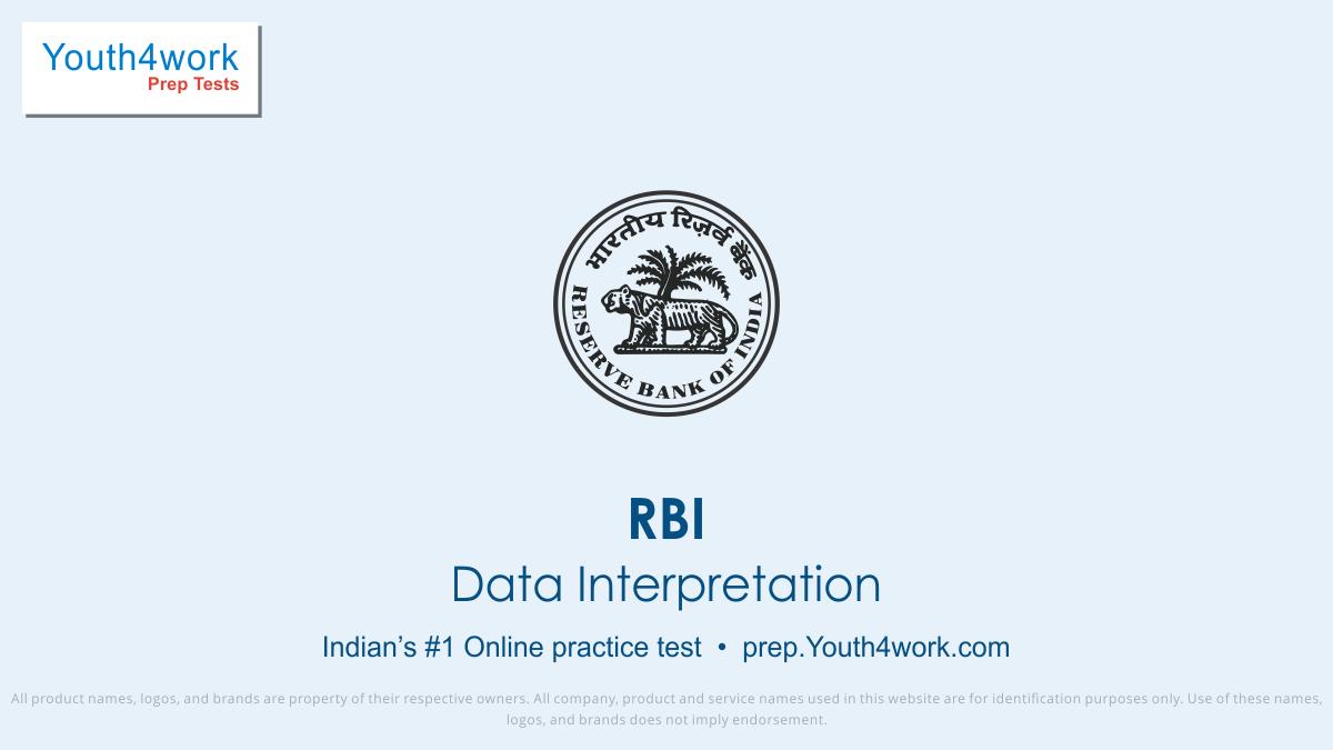 RBI Careers, RBI Career Test, RBI, RBI Vacancy, RBI Recruitment, RBI Question paper, RBI Exam pattern, RBI Practice paper, RBI mock Test series, RBI free test papers, RBI paper pattern, RBI last year question paper, RBI model test paper, RBI updated Question paper, data interpretation test series